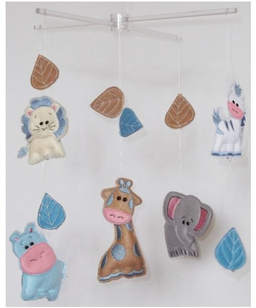 African Safari baby mobiles blue colourway 1