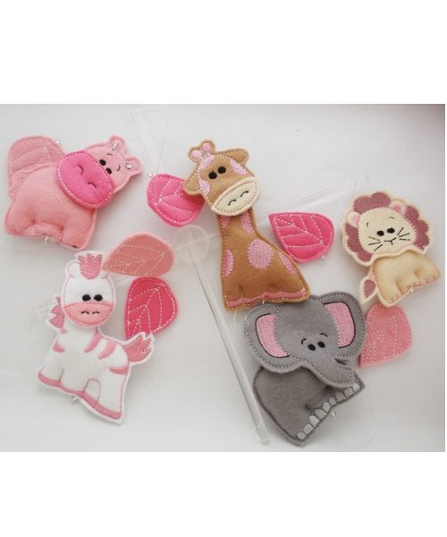 African Safari baby mobiles pink colourway