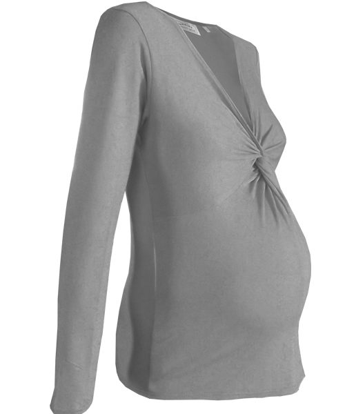 Maternity knot twist top 3