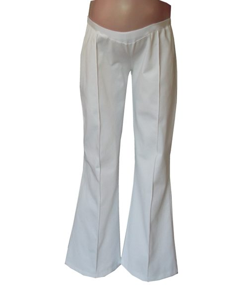 Pin tuck maternity pants