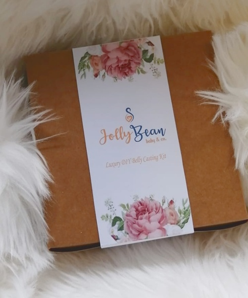 Luxury DIY pregnancy cast kit in box with label