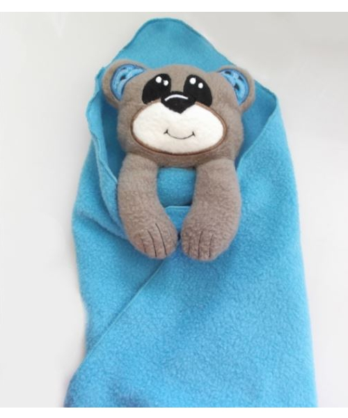 Bear lovey comfort blanket   *PINK + BLUE* 1