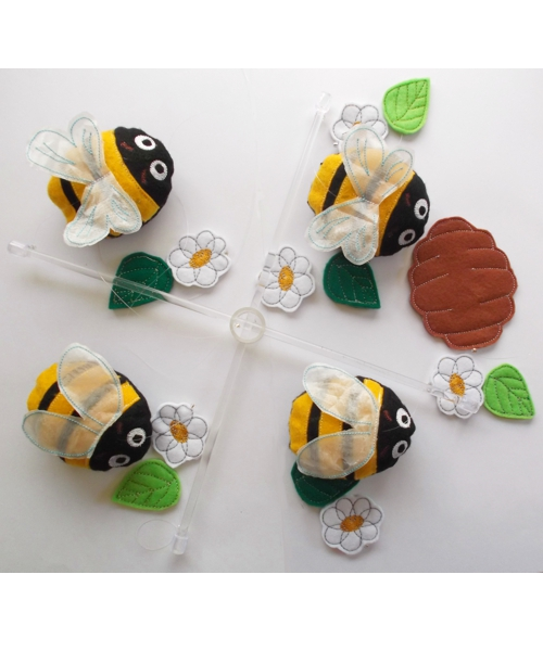 Bee and Daisy nursery mobile 1