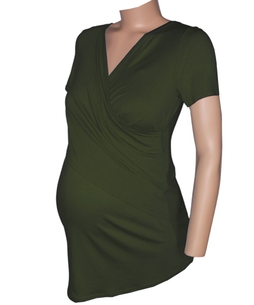 Crossover Breastfeeding Maternity Wear Top