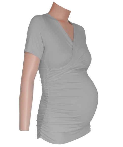 Crossover Gathered sides Maternity top sv