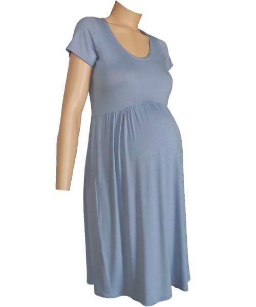 Flattering Gathered Summer Maternity Dress