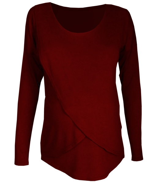 Long sleeve Tulip Maternity Breastfeeding Top 1
