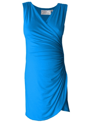Sleeveless Crossover gathered maternity dress