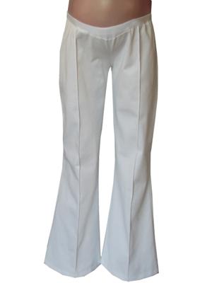 Navy Pin tuck maternity pants