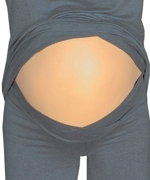 Maternity and Nursing Pyjamas Dark melange grey in *Large* 2