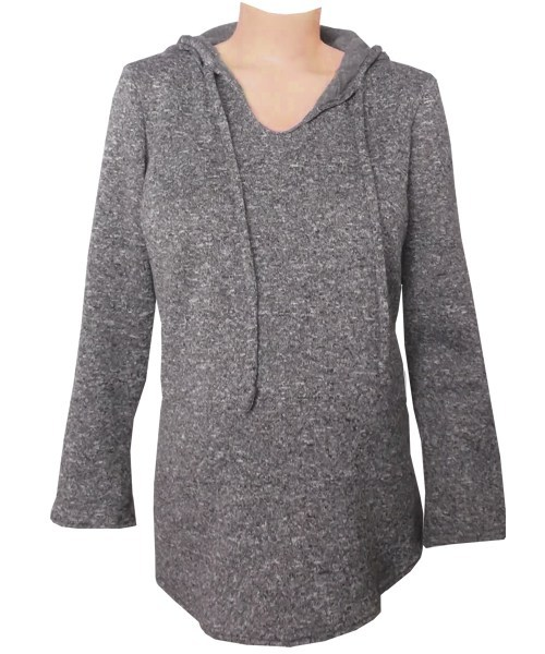 Knit fleece winter maternity hoody top