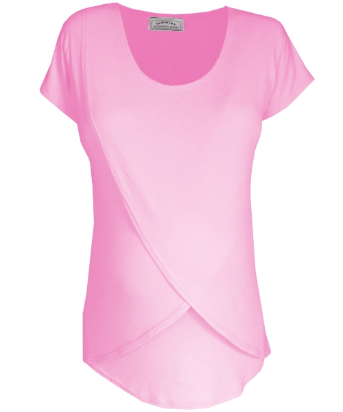 Tulip Maternity Breastfeeding Top in pink on Sale *LARGE* 1